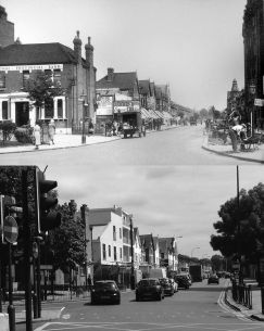 Brownhill Road from Rushey Green then and now